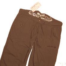 Hnědé plátěné kalhoty voodoo dolls vel.44, 44