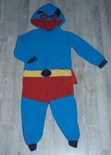 Fleecový overal na spaní i karneval superman, matalan,104