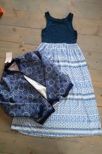 Modrobílé šaty set 134, f&f,134