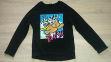 Černé bavlněné tričko vel. 122-128, george,122