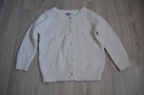 Chlupatkový dívčí svetr s průhlednými knoflíky, f&f,104