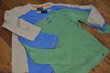 3x jednobarevné bavlněné tričko, next,98