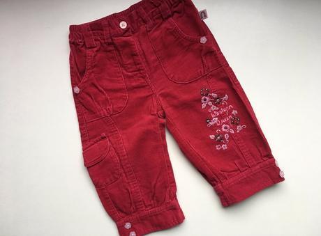 Manžestrové kalhoty (6 - 9 měs.), 74