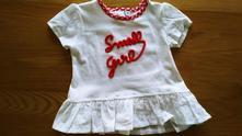 Bílé tričko/tunika s nápisem small girl, 62 / 68