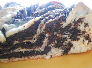 koláč na řezu