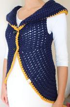 Háčkovaná vesta na objednávku, l - xxxl