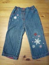 Měkké džínové kalhoty do gumy, podšité, george,80