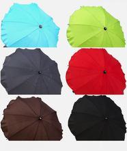Deštník ke kočárku, barva  tyrkysová,