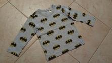 Šedé triko batman, h&m,80