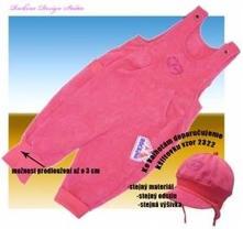 Dětské kalhoty s laclem rockino meruňkové , rockino,86 / 92 / 98