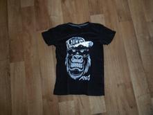 Dětské tričko s flitry - gorila vel. 146/152, takko,146