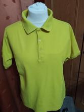 Pánské žluté triko s límečkem, xl