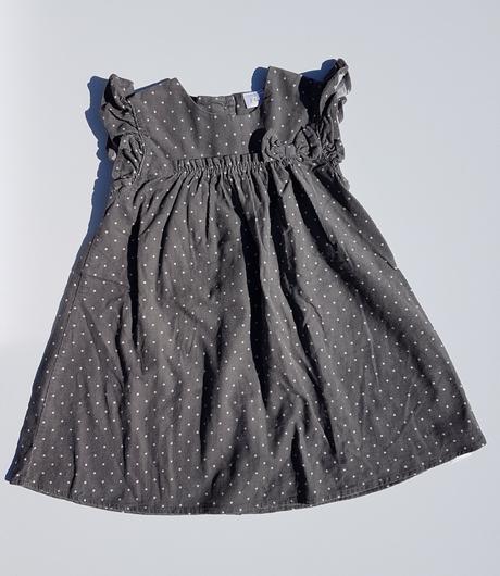 C141dívčí manšestrové šaty puntík, f&f,80