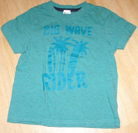 A173. zelené tričko s palmami, lupilu,98