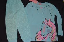 Pyžama s koněm na 2,5- 8 let bavlněná, 98 - 134