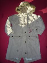 Zimní kabát s čepicí a šálou vel. 116, bhs,116