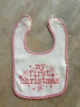 Unisex bryndáček santa my first christmas zn. f f,