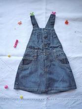 Džínová sukně s laclem, obaibi,74