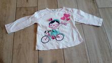 Dívčí tričko s dl. r. pepco v. 86 s holkou na kole, pepco,86