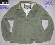 Přechodová bunda na podzim pro kluka - vel.7-8 let, next,128