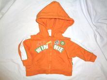 Luxusní oranžová mikina - medvídek pú, c&a,68