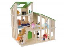 Dřevěný domek pro panenky eco toys - modern,