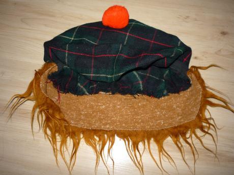 Čepice s vlasy šašek/klaun, m