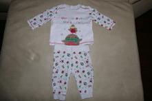 Vánoční souprava/pyžamo vel. 62, f&f,62
