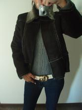 Černý kožešinový kabátek kcero, m