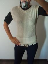 Béžový svetr/vesta h&m, h&m,xs