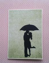 Přání  - pod deštníkem ,