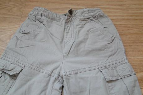 Béžové oteplené kalhoty, vel. 9-12m, adams,80