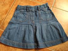 Riflová sukně, sukýnka, lupilu,110