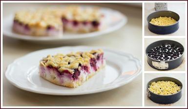 Strouhaný koláč s tvarohem a ovocem - aneb ostružiny naposledy :-)