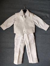 Bílý oblek/obleček 9-12 měsíců, 74
