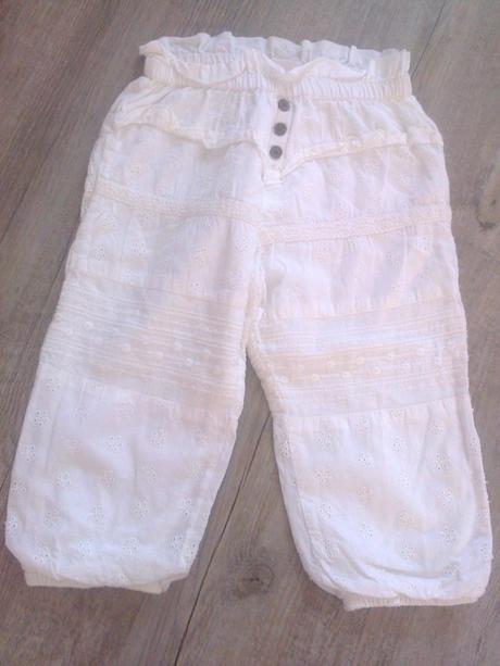 Madeirové  plátěné kalhoty, lindex,86