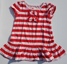 C139dívčí šaty s krátkým rukávem mašle vel. 80, next,80