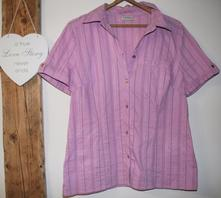 Růžová košile krátký rukáv vel 44, c&a,44