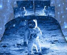 Dětské povlečení 3d-140x200 astronaut- skladem, 140,200