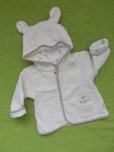 Medvídkový kabátek s kapuckou, baby,68