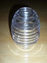 Průhledná plastová nádoba, sklenice,box na med,