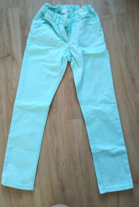 E230 - mátové kalhoty, h&m,122