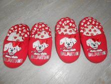 Disney - papučky s dalmatýny, vel. uk7 - 24, disney,24