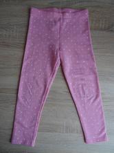 Růžové legíny s puntíky, f&f,104