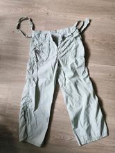Plátěné světle zelené kalhoty next vel. 122, next,122