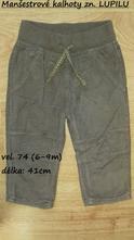 Manšestrové kalhoty zn. lupilu, lupilu,74