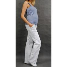 Těhotenské kalhoty s boční kapsou - bílá, l - xxxl