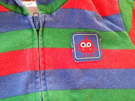 Mikina barevné pruhy, f&f,80
