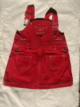 Červená riflová sukně, next,80