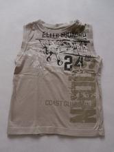 Hnědé tílko, triko bez rukávů, vel.98, okay,98
